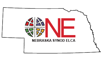Nebraska Synod Logo: Nebraska Synod, Evangelical Lutheran Church in America.